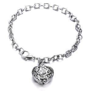 ♠️+ Swarovski ®Stones Crystal Heart Charm Bracelet